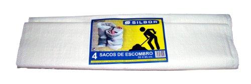Silbor - Saco de rafia escombro 55x85 paquete 4.