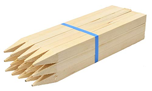 スターワン 木材 角杭 約50×3×3cm 977717 15個セット