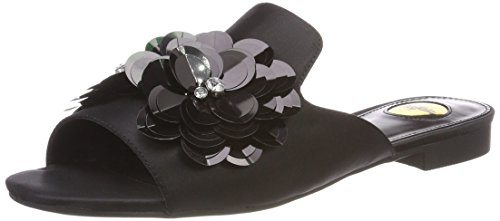 Buffalo Damen 316-4518-8 Satin Pantoletten, Schwarz (Black 01), 40 EU
