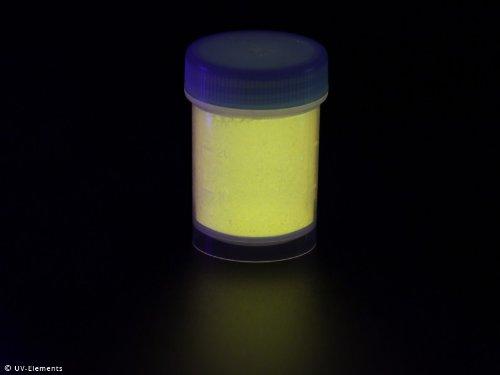 Unsichtbares Markierungspulver 25g - gelb - Schwarzlicht, Farbpulver, UV, Neon