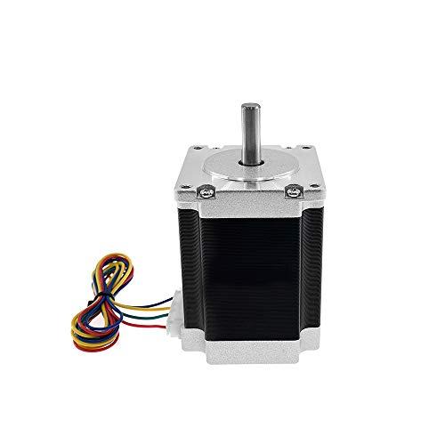 Aibecy Nema 23 Motor paso a paso con conductores de motor Diámetro del eje 8 mm Máquina de alto torque Motor paso a paso 23HS7628 Kit de piezas de impresora bipolar 3D