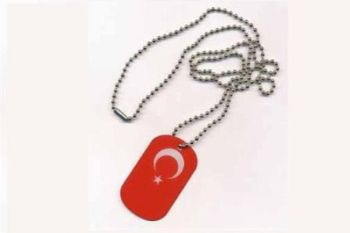 Erkennungsmarke DOG TAG Türkei Fahne Flagge Kette
