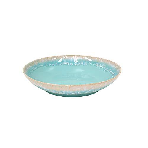 Casafina Taormina Collection Stoneware Ceramic Pasta/Serving Bowl 13', Aqua