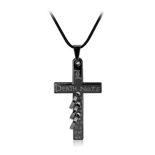 AdorabFruit Présent Pendentif Pendiente de la joyería Collar Colgante Cruz Cosplay Accesorios de Moda de la película de Metal Oro Negro Hombres