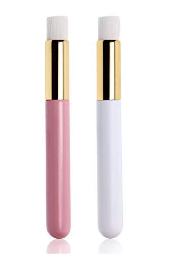 Penta Angel Lash Shampoo Brushes 2Pcs White Pink Eyelash Extension Nose Pore Blackhead Facial Deep Cleaning Washing Brush Tools for Women Girls