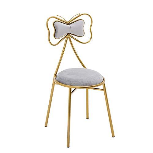 QQXX Vanity Stool Make-up bankje met dikke beklede beklede stoel, pianozitje, badkamer, slaapkamer, grote wastafel, gouden ijzeren frame, 4 kleuren a 2