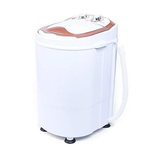 6kg 240W 54x35x34cm Tragbar Kleine Waschmaschine Waschautomat Zuhause Washing Machine,mit Dehydration/Wasch Schlafsaal/Home (Gold)
