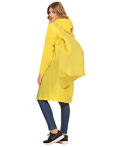 Poncho de lluvia amarillo impermeable