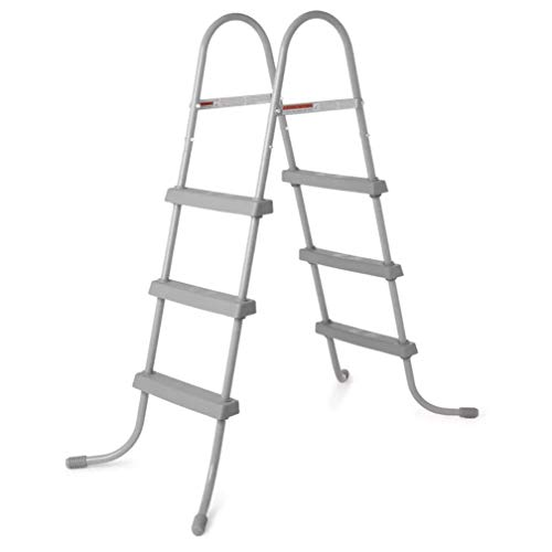 Bestway 58334E Ladder, 36' | Made for Above Ground Pools | Durable Rust-Proof Metal Frame, One Size