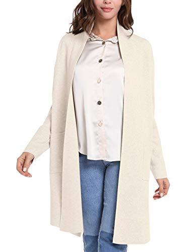 APART Damen Jacke, weiche Strickjacke, Cardigan mit Taschen, Kaschmir-Anteil, Feinstrick