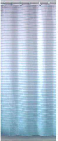 Gedy Duschvorhang Größe 120 x 200 cm, Farbe hellblau