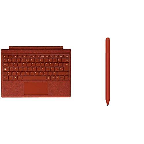 Microsoft Surface Pro Signature - Funda con Teclado, roja + Surface Pro Pen - Lápiz Rojo