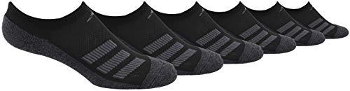 adidas - Calcetines acolchados para niños (6 pares), color negro y negro Onix Marl/gris noche/Onix/onix claro, talla mediana