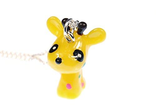 Miniblings Giraffe Kette Halskette 45cm Giraffen Afrika Kinderschmuck Comic gelb