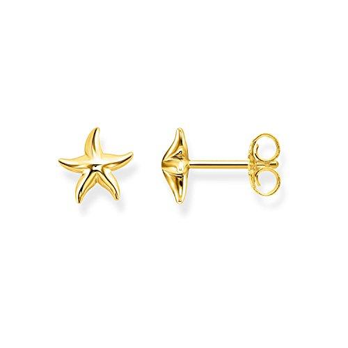 Thomas Sabo - Pendientes de botón de Mujer 'Estrella de Mar Glam & Soul', Plata de Ley 925, Plateado