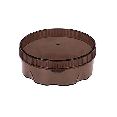 No-Branded JFCUICAN Gewürzdose mit Saugnapf, rund, wandmontiert, Kühlschrank-Magnetbox, transparent, Aufbewahrungsbehälter, Farbe: Braun, Größe: 9,5 x 4 cm