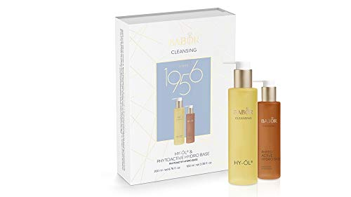 BABOR CLEANSING Hy-Öl & Phytoactive Hydro Base Set, Jubiläums-Collection, Reinigungs-Duo, für trockene Haut, 2 Teile