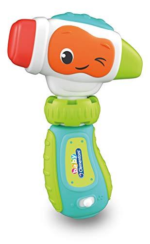 Baby Clementoni - 17327 - Donatello Il Martello - Gioco Prima Infanzia - Giocattolo Elettronico Parlante (Batterie Incluse), Bambini 9 - 36 Mesi, Italiano
