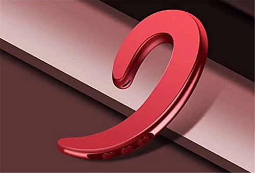 SXFSY Auriculares De Conducción Ósea Auriculares Inalámbricos Bluetooth Auriculares para Oídos Abiertos, Llamada Telefónica De Respuesta, Ligero Y Conveniente, Negro, Plata, Rojo, Oro,Rojo