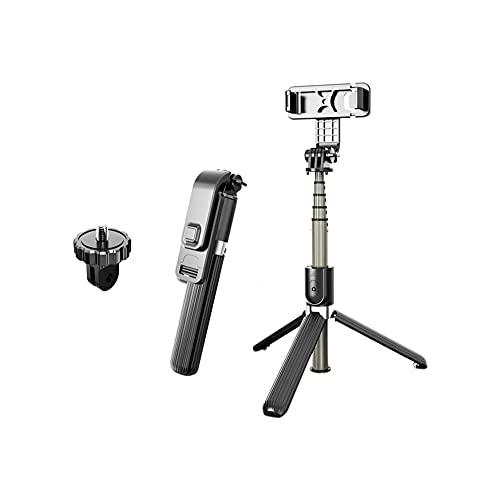 WGLL Selfie Stick Tripod, diseño de Almacenamiento Integrado de Aluminio Teléfono trípode con Control Remoto inalámbrico - Compatible para Todos los teléfonos