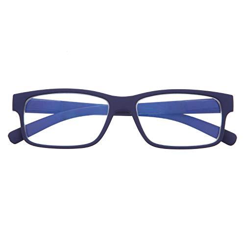 DIDINSKY Gafas de Presbicia con Filtro Anti Luz Azul para Ordenador. Gafas Graduadas de Lectura para Hombre y Mujer con Cristales Anti-reflejantes. Indigo +1.0 – THYSSEN
