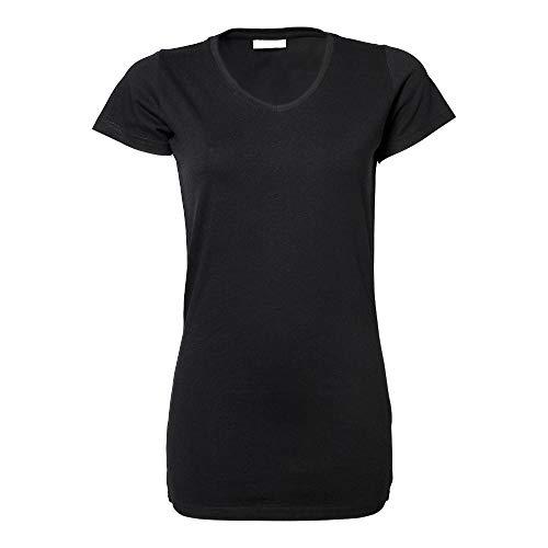 Tee Jays - Ladies Stretch Tee Extra Long XL,Black