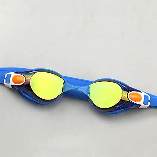 HE-XSHDTT Gafas De Natación De Galvanoplastia De Marco Grande para Adultos, Fácil De Doblar/No Fácil De Envejecer/Desmontable, Adecuado para Adultos, Hombres, Mujeres, Adolescentes, Niños,Azul