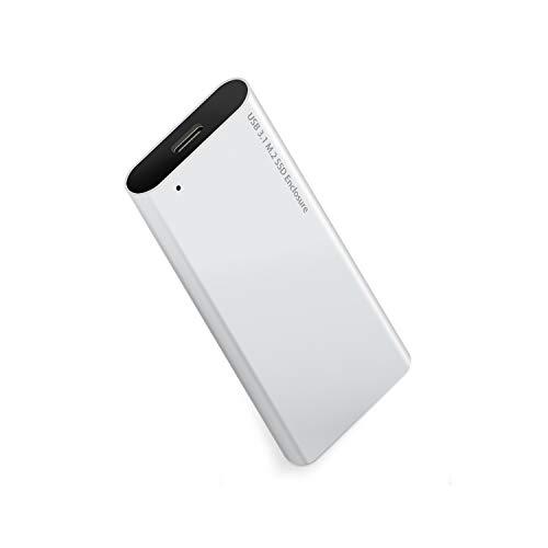 J&D NVME SSD a USB C Gen 2 Enclosure, M.2 NVME M Key SSD a USB 3.1 Tipo C Alluminio Convertitore Case, Supporto 2230/2242/2260/2280 Samsung 960/970 EVO/PRO WD NVME SSD