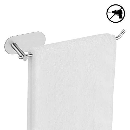 Umi. by Amazon - Toallero adhesivo para baño, toallero sin taladro de acero inoxidable para baño y cocina, porta toallas sin taladro, portarrollos para papel higiénico