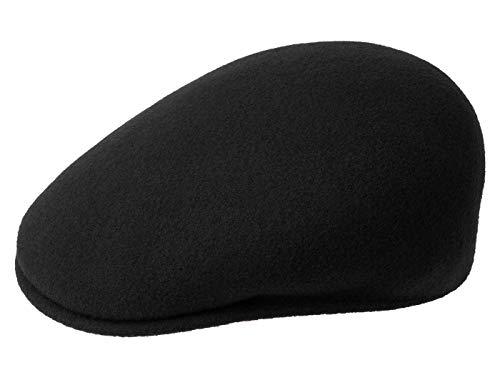 Kangol Herren Damen Mütze Schirmmütze Flatcap Original 504 | Schlägermütze mit Kultstatus 0258BC Schirmmütze Mütze (L/58-59 - schwarz)