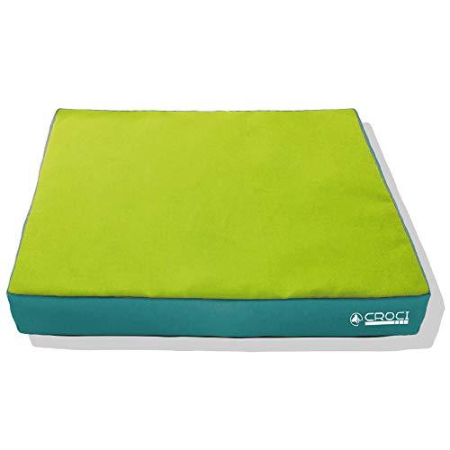 Croci Cojín Rectangular Fresh Green Fluo con Esterilla Autoenfriante, Tamaño 90X60X6 Cm 2600 g