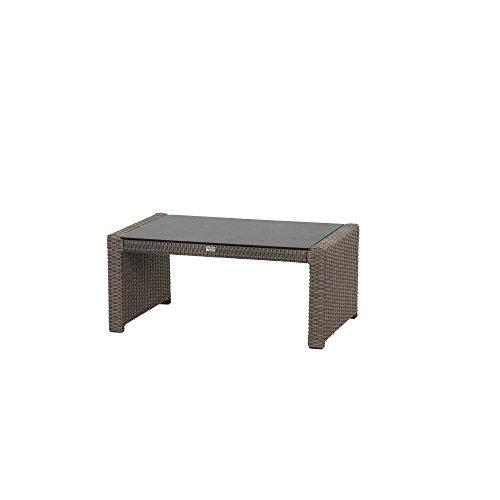 Siena Garden Lounge Tisch Teramo, 97,5x61x43cm, Gestell: Aluminium, pulverbeschichtet, Fläche: Gardino-Geflecht in bronze,Tischplatte: Spraystone