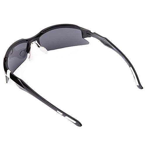 WOLFBIKE UV400 Protection Sports Sunglasses for Cycling Fishing Golf (Sunglasses-Black/White)