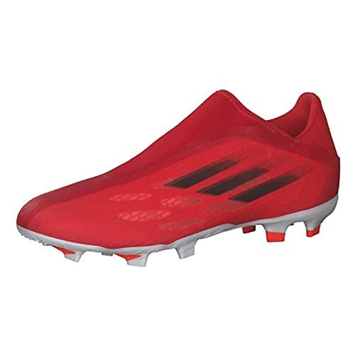 adidas X SPEEDFLOW.3 LL FG, Zapatillas Deportivas Unisex Adulto, Rojo/NEGBÁS/Rojsol, 39 1/3 EU