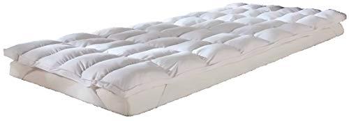MB Warenhandel24 95° waschbar Premium Dacron Matratzentopper Unterbett Matratzenschutz Spannauflage Baumwolle ca. 100x200 cm