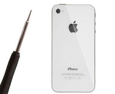 Vetro Posteriore  Coperchio per Apple iphone 4 - Bianco, bulk pack