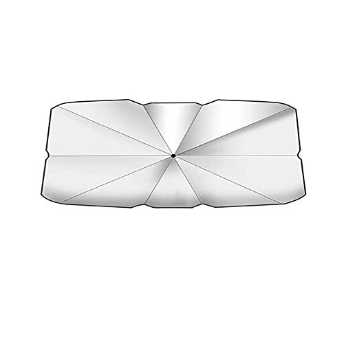 JTSGHRZ Paraguas de Coche Sombrilla para Coche, Paraguas Plegable con Aislamiento térmico, para Peugeot 207208407308 2008 3008