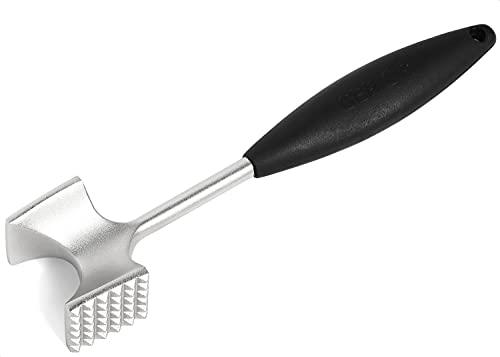 Cast Stainless Steel Meat Tenderizer - Heavy Duty Dishwasher Safe Hammer Mallet Tool & Chicken Pounder