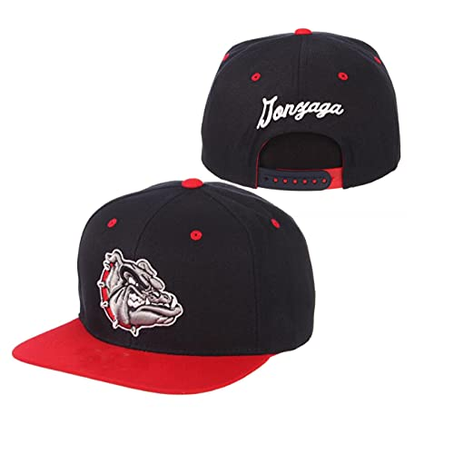 YOUR TEAM Hip Hop Hat,Basketball Cap,Gonzaga University Soft Mesh Cap Black Red,Adjustable Embroidered Snapback Cap