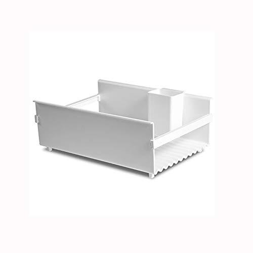 LLRYN Almacenamiento de Cocina Multifuncional y Organizador de Platos, Bandeja de plástico Bandeja de desagüe del Fregadero