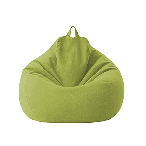 QIROG Sofa-Cover Lazy Beanbag-Sofas-Cover Kein Füllung Lounge-Sitzbeutel Bohnenbeutel Puff Sofa Tatami-Stühle-Covers-Grün_Bohnenbeutel abdecken m