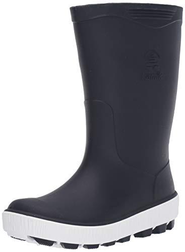Kamik Unisex-Kid's Riptide Rain Boot, NAVY/WHITE, 3 M US Little Kid