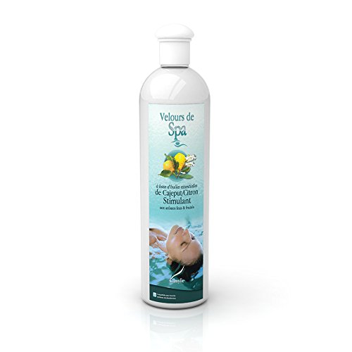 Camylle - Velours de Spa Cajeput/citron - Fragrances à base d'Huiles Essentielles 100% Pures et Naturelles pour Spa ou Jacuzzi - Stimulant aux arômes frais et fruités - 500ml