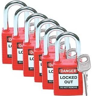 Brady 51339 - Keyed Different Lockout Padlock, Red, 1-1/2