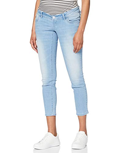 MAMALICIOUS Mama Licious Damen Umstandsjeans Cropped Slim Fit 2832Light Blue Denim