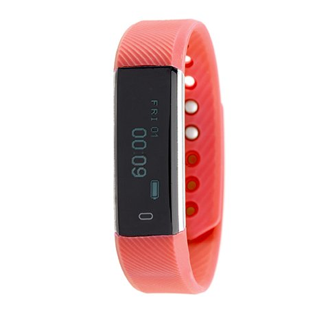 RBX Active TR5 Waterproof Bluetooth Fitness & Activity Tracker with Touchscreen Watch (red)