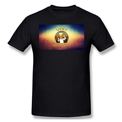 IUBBKI Camiseta básica de Manga Corta para Hombre Men Print with Vert Der Ferk Fashion Short Sleeve T-Shirt