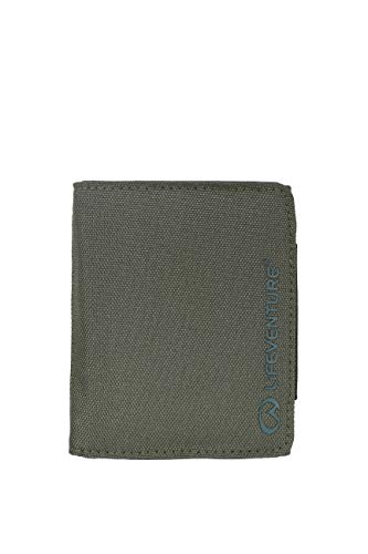 Lifeventure (LIHMM) Cartera protegida RFID para Hombre, Hecha de Material Reciclado ecológico, Color Oliva, Talla única