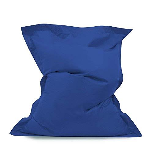 Bean Bag Bazaar Pouf Poire géant – Pouf Poire intérieur/extérieur imperméable à 100% (Bleu)