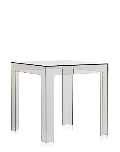 Kartell Jolly, Table Basse, Polycarbonate Transparent ou teintè dans la Masse, Fumé Clair